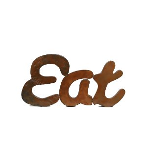 Large Metal Eat Sign