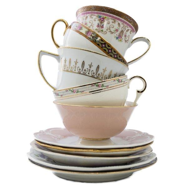 Mismatched Teacup & Saucer Pairs