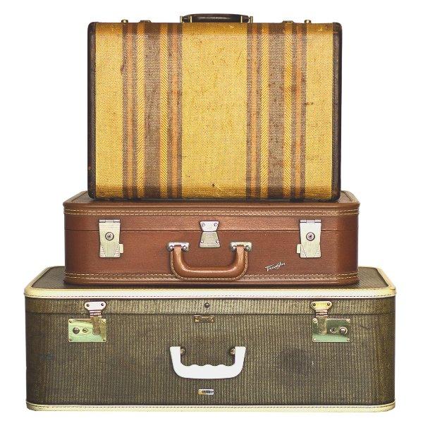 Brown & Gray Luggage Set