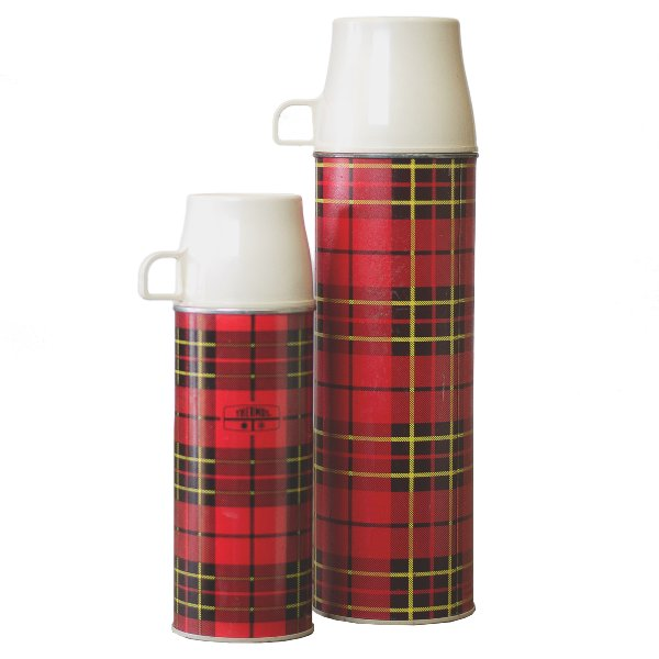 Plaid Thermos Set