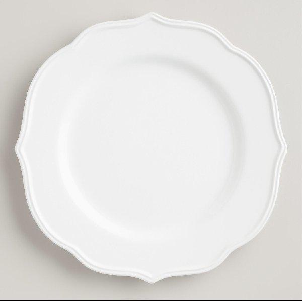 Baroque White Dinner Plate