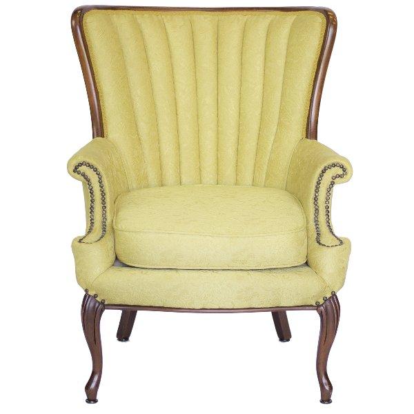 Crandall Yellow Armchair