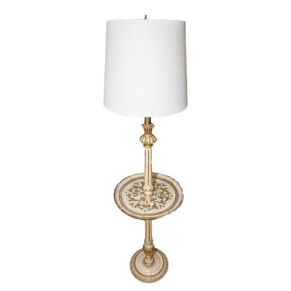 Gold Florentine Floor Lamp