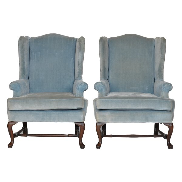 Warner Blue Wingback