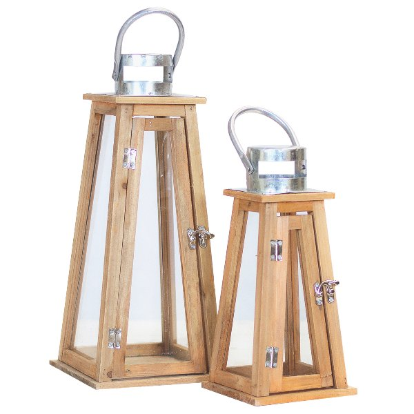 Natural Wood Lanterns