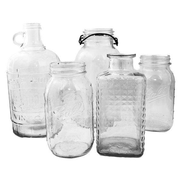 Large Clear Glass Bottles