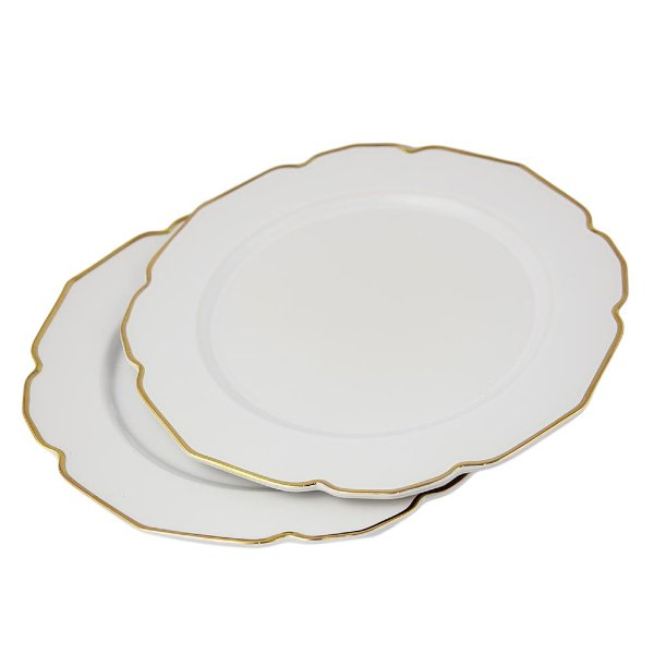 Gold Scalloped Charger Plate