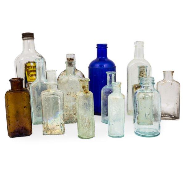 Small Vintage Glass Bottles