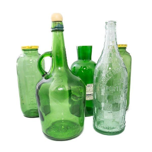 Large Green Glass Bottles
