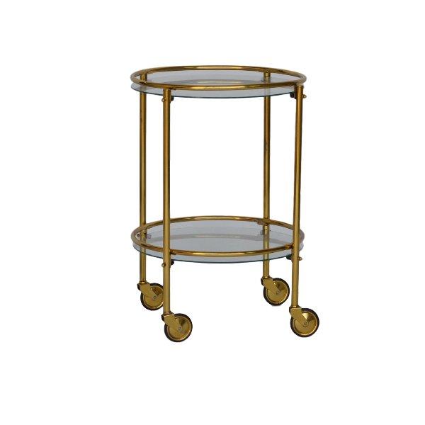 Petite Brass Bar Cart