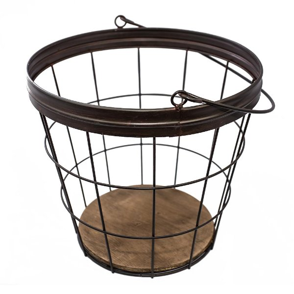 Rustic Metal Basket