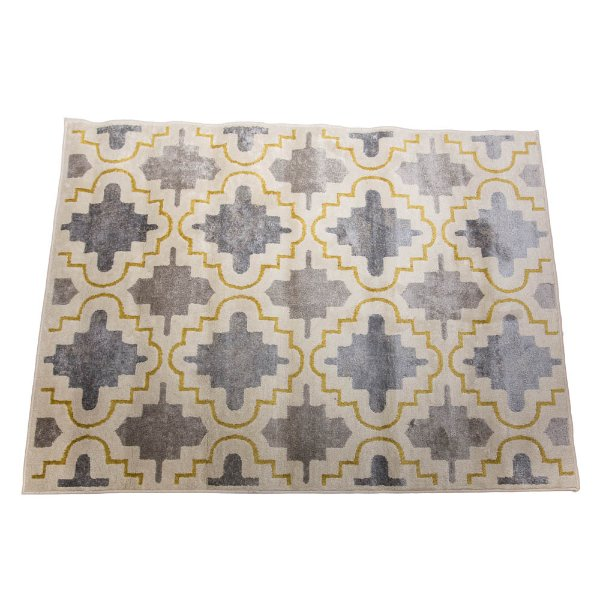 Grey and Yellow Boho Rug