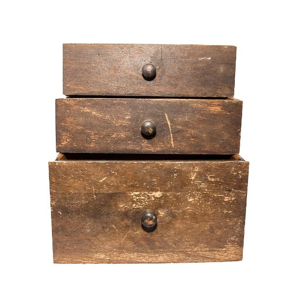Wooden Drawers Trio