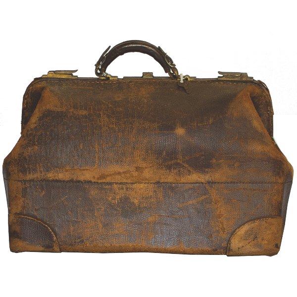 Distressed Leather Medical Bag