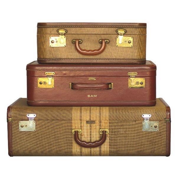 Cognac Luggage Set