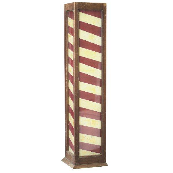 Antique Wooden Barber Pole