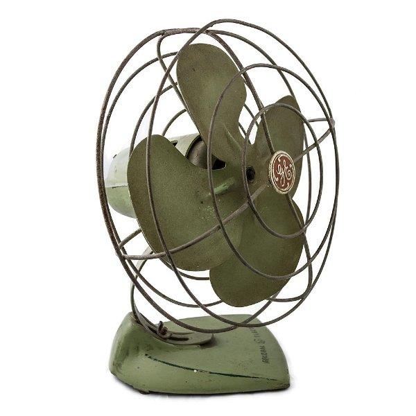 Green Desk Fan