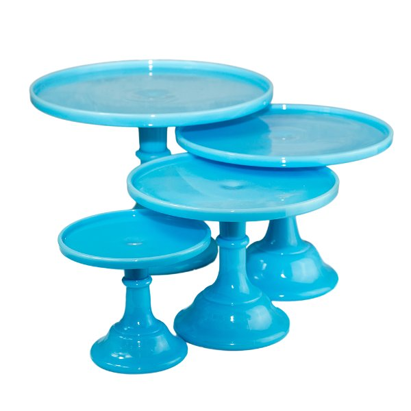 Blue Milk Glass Cake Stands