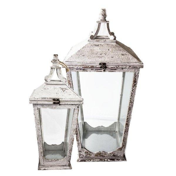 Chippy White Lantern Set