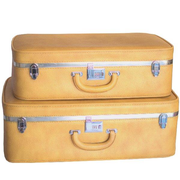 Ventura Yellow Luggage Set