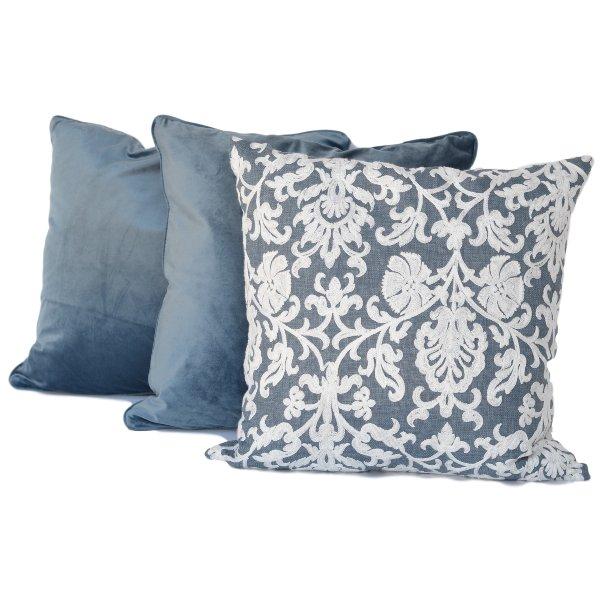 Blue + White Pillow Set