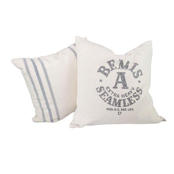 Pair of Seamless Grain Sack Pillows