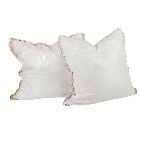 Set of Linen Shimmmer Pillows