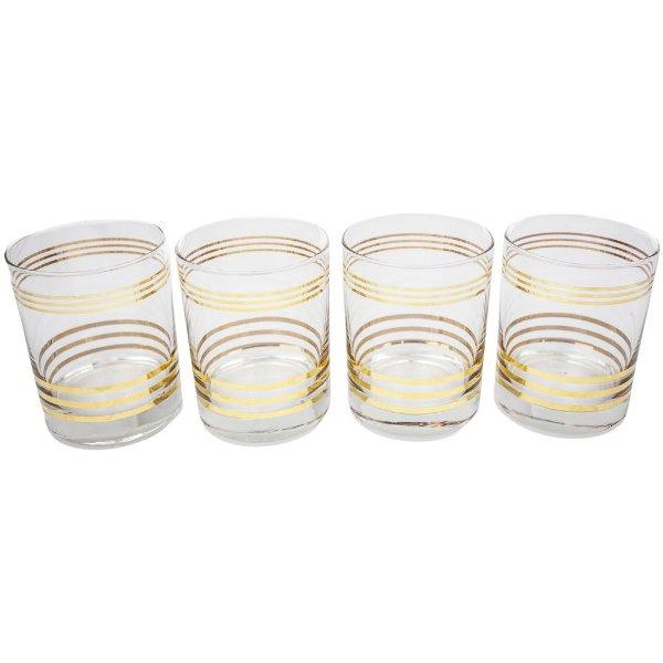 Mid Century Bar Glasses (set of 4)