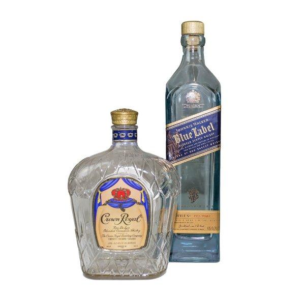 Set of Liquor Bottles