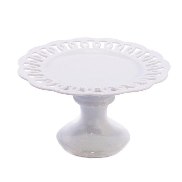 Petite Milk Glass Cake Stand