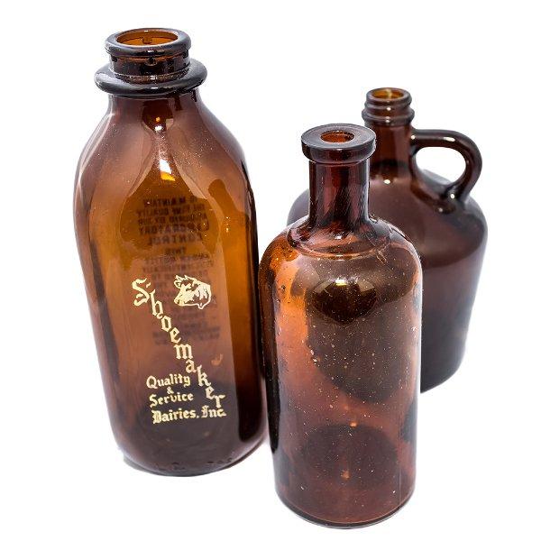 Large Amber Glass Bottles