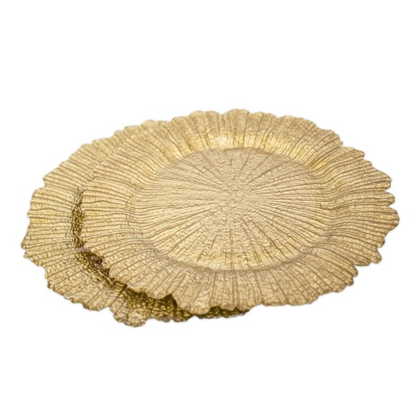 Gold Coral Reef Charger Plate
