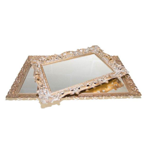 Mirrored Vanity Trays