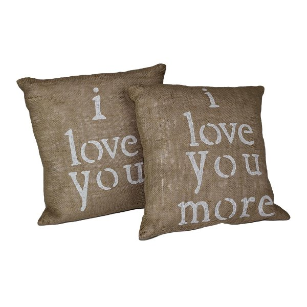 Love You More Pillow Set