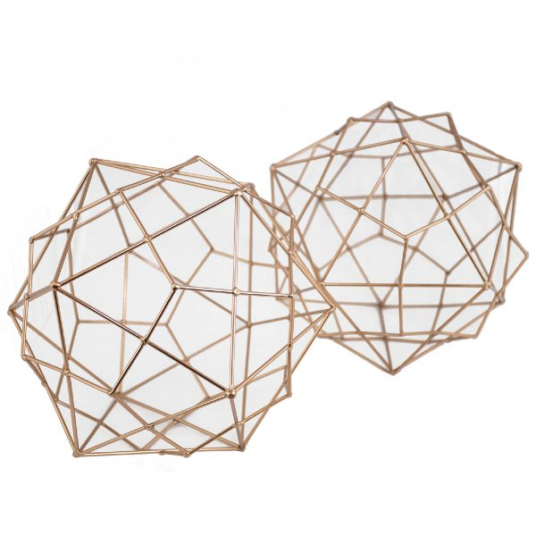 Set of Copper Geometric Shapes