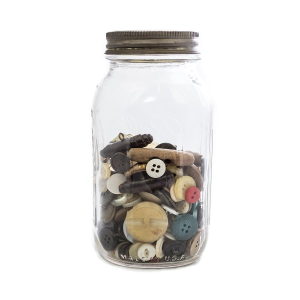 Mason Jar of Buttons