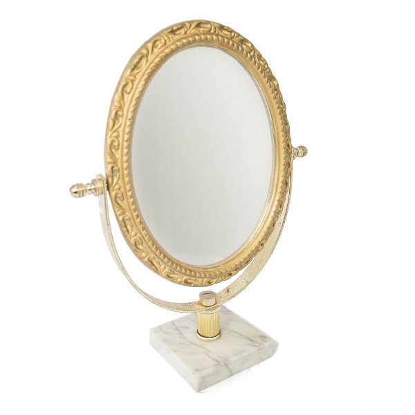 Oval Vanity Standing Mirror