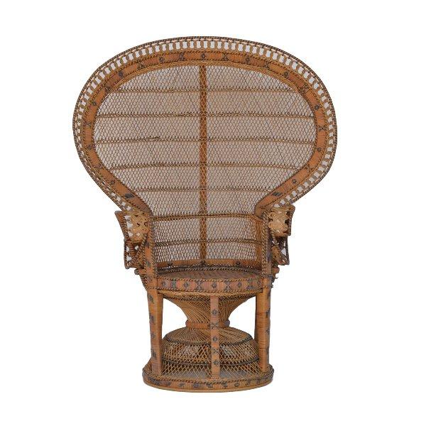 Indigo Peacock Chair