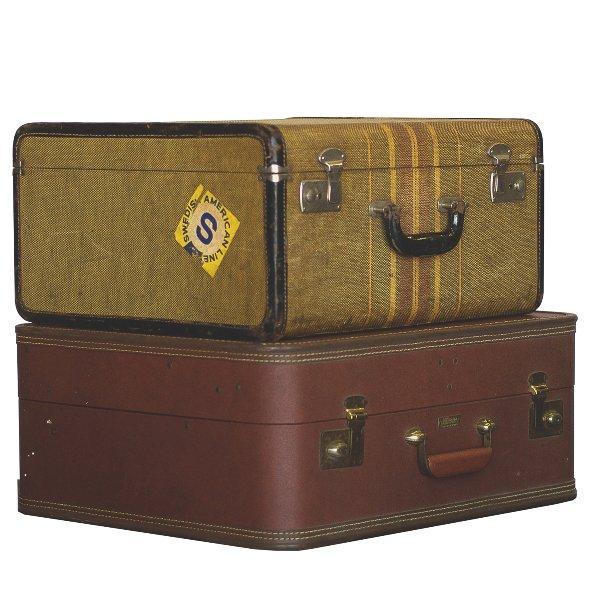 Pair of Square Suitcases