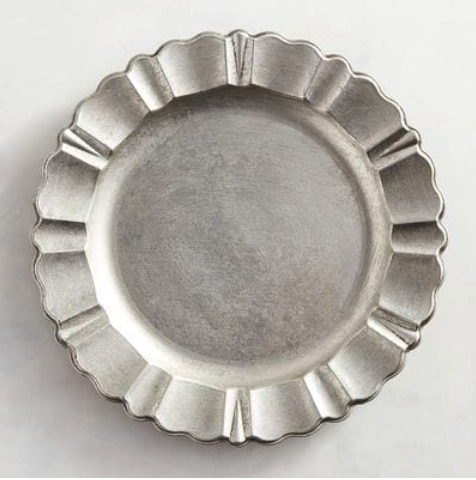 Silver Scalloped Chargers