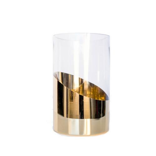 Gold Floral Vase