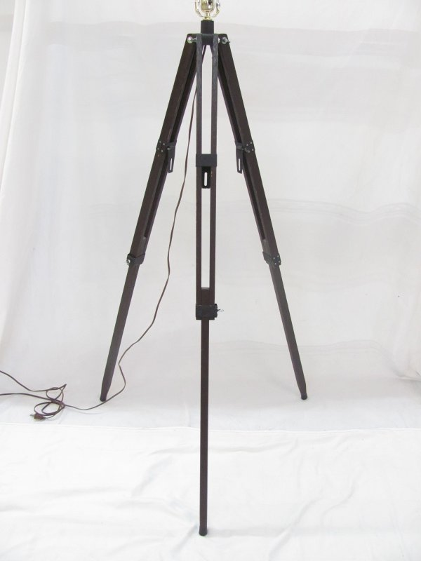 Shop inventory market ready staging solutions 720118 floor lamp dark wood tripod mozeypictures Images