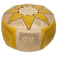 YELLOW MARRAKESH pouf
