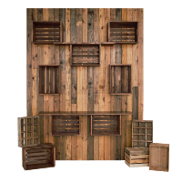 DRK WOOD crate wall PLAIN (6x8)