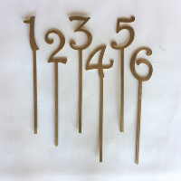 GOLD number inserts