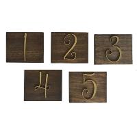 GOLD WOOD number blocks