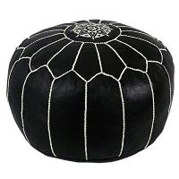 BLACK pouf