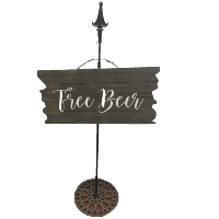 FREE Beer sign with stand