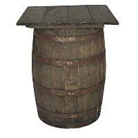 OAT barrel table (square)