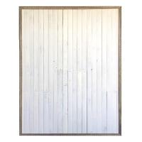FRAMED WHT WOOD (6x8)